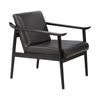 Oslo Black Leather Armchair