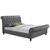 Chesterfield Side Ottoman Scroll Bed