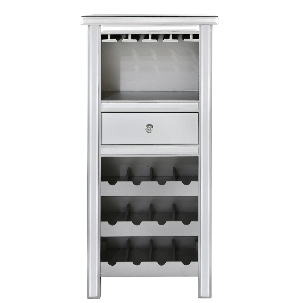 Mirrored Wine Storage