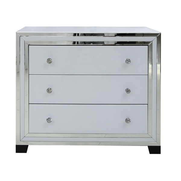 White and Silver Chest