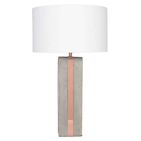Concrete and Rose Table Lamp