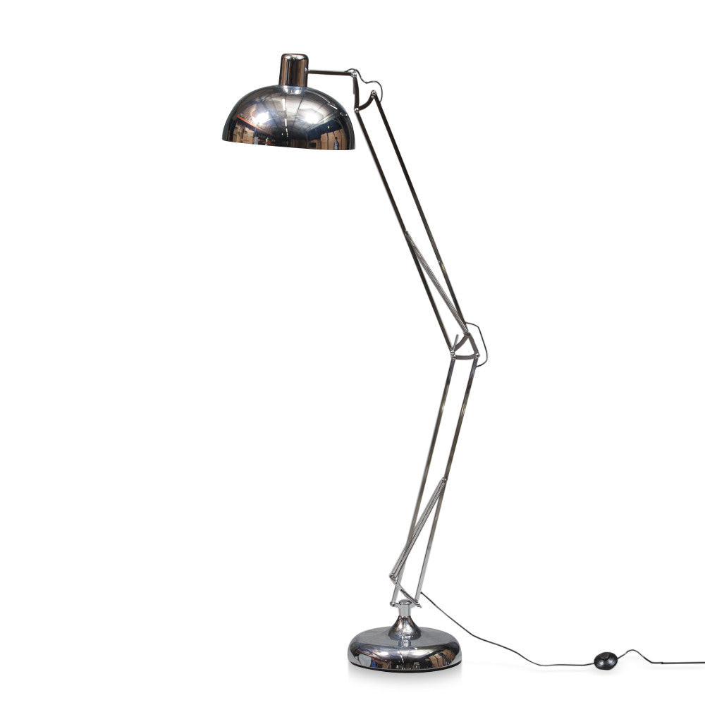 Industrial floor lamp metallic tones oliver hayden industrial floor lamp metallic tones aloadofball Image collections