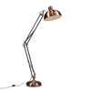 Industrial Floor Lamp Metallic Tones