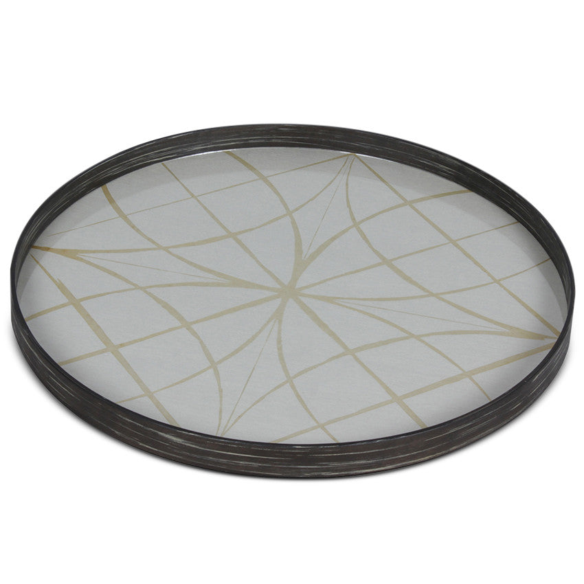 Geometric Glass Tray - Large