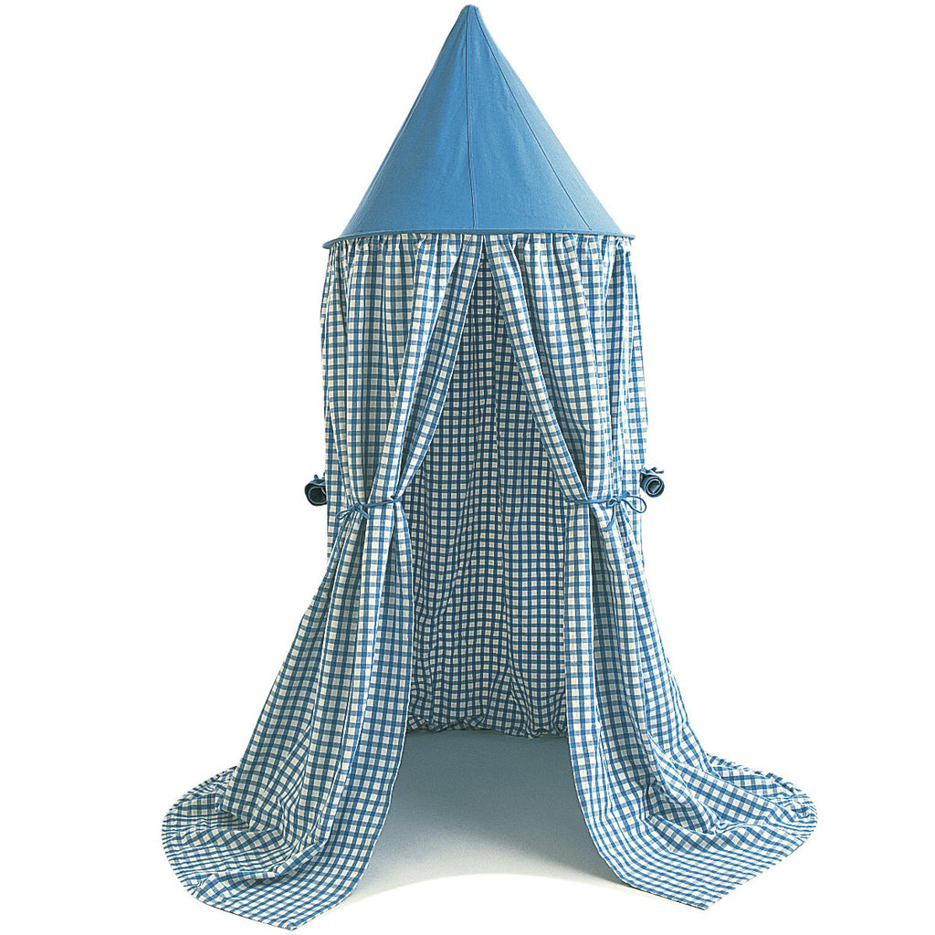 Hanging Tent in Blue Gingham