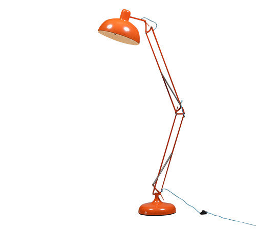 Industrial Floor Lamp in Orange
