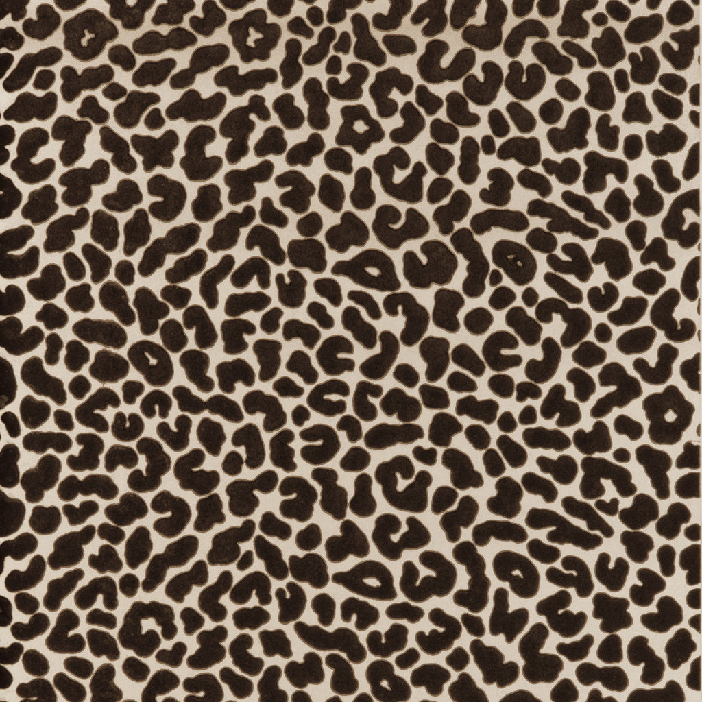 Leopard Flock Wallpaper in various colours