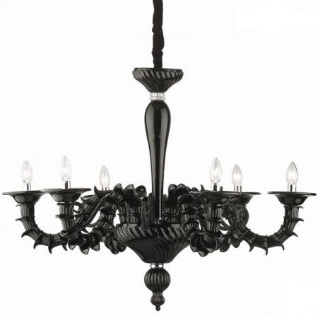 Black baroque glass chandelier