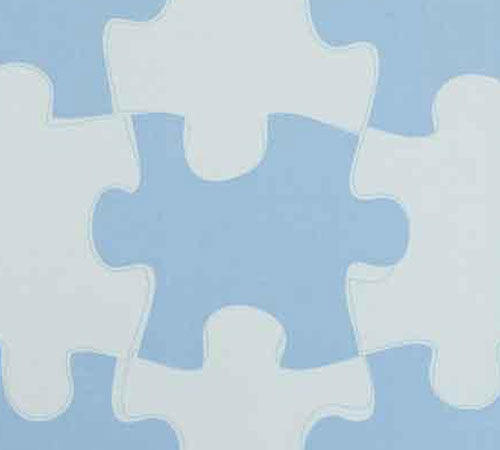 Jigsaw Puzzle Wallpaper - Various Colours