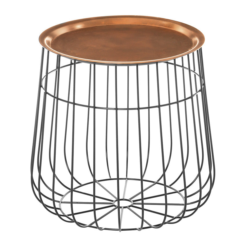 Copper Tray Side Table