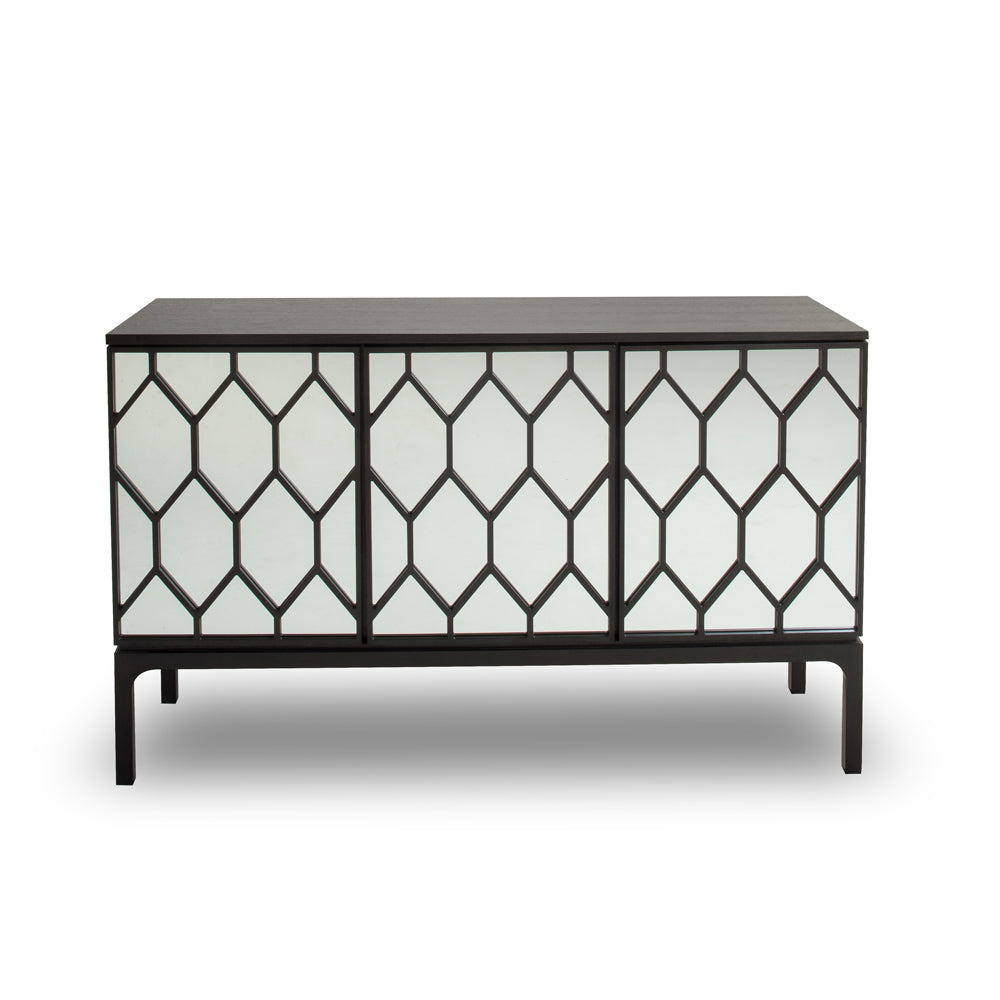 Mirrored Geo Sideboard