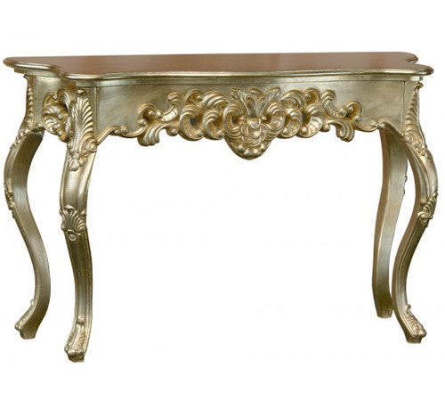 Ornate Console Table in Gold