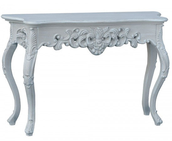 Ornate Console Table in Grey