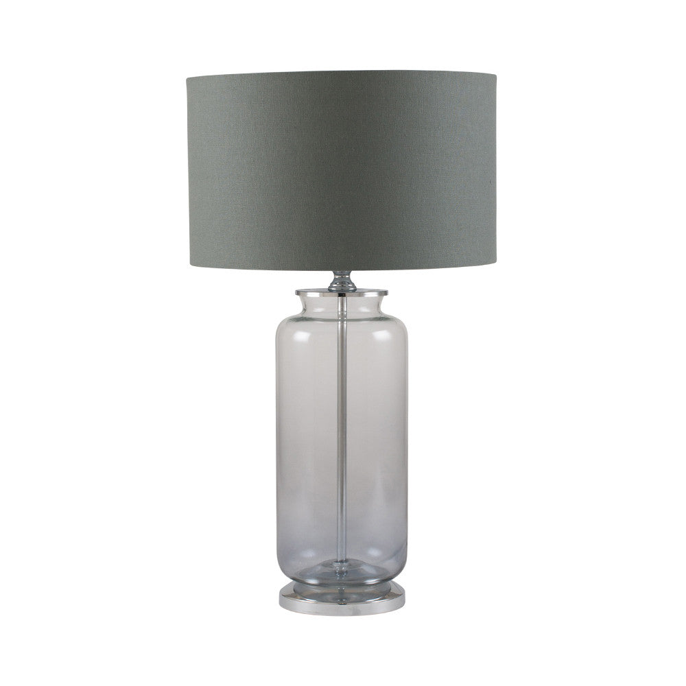 Grey Ombre Glass Lamp