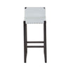 Oslo Grey Leather Bar Stool