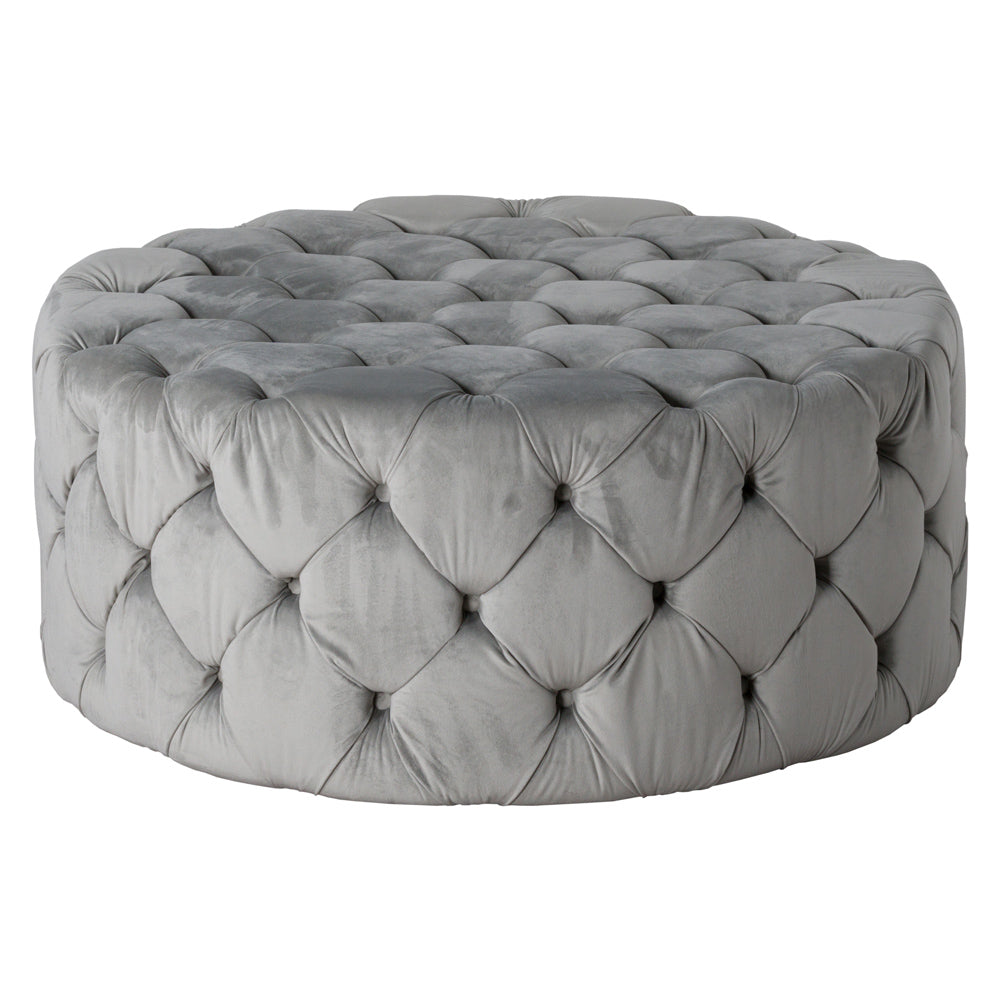 Oversized Deep Button Pouffe