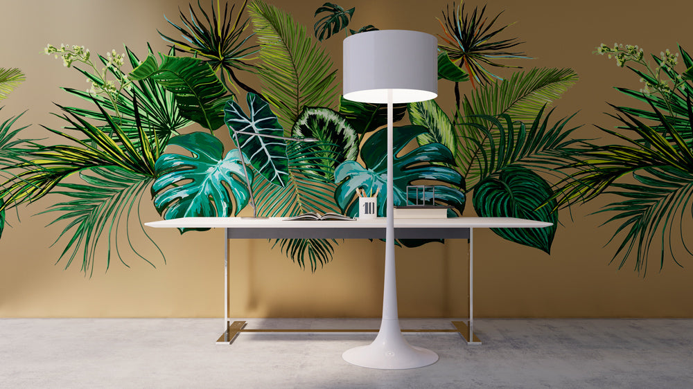 Oversized Palm leaves Mural Sold Per m2