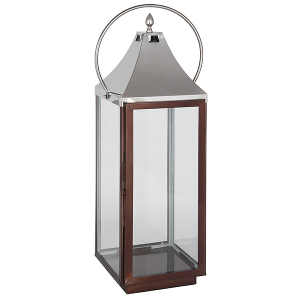 Copper Trim Lantern (l)