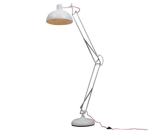Industrial Floor Lamp in White
