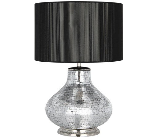 Mosaic Statement Table Lamp in Silver