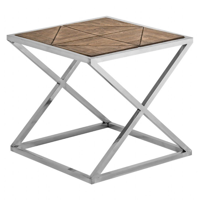 Industrial X Leg Side Table
