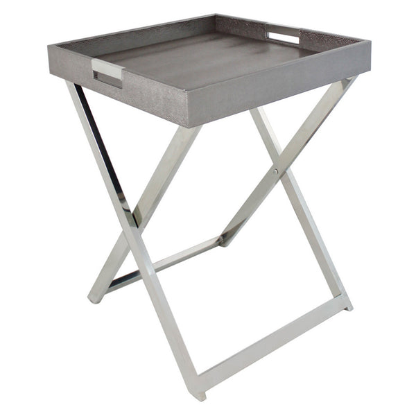 Pewter Embossed Side Table Sold Out Oliver Hayden
