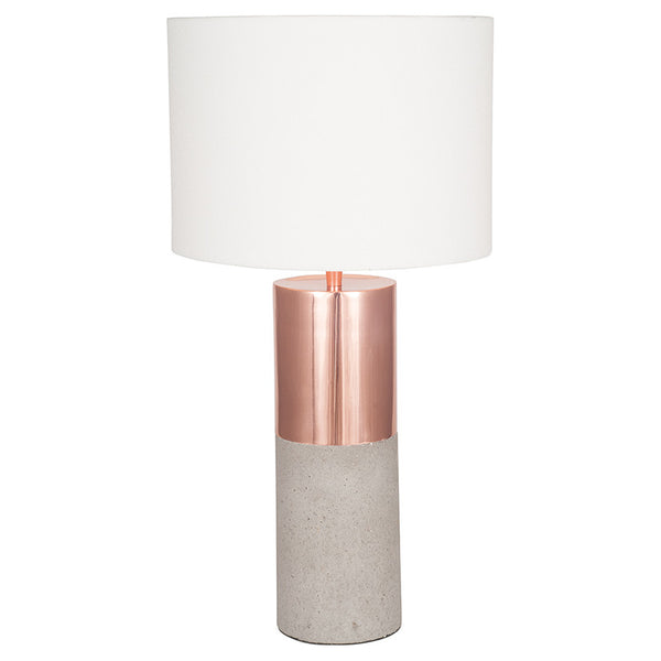Rose Gold and Concrete Lamp