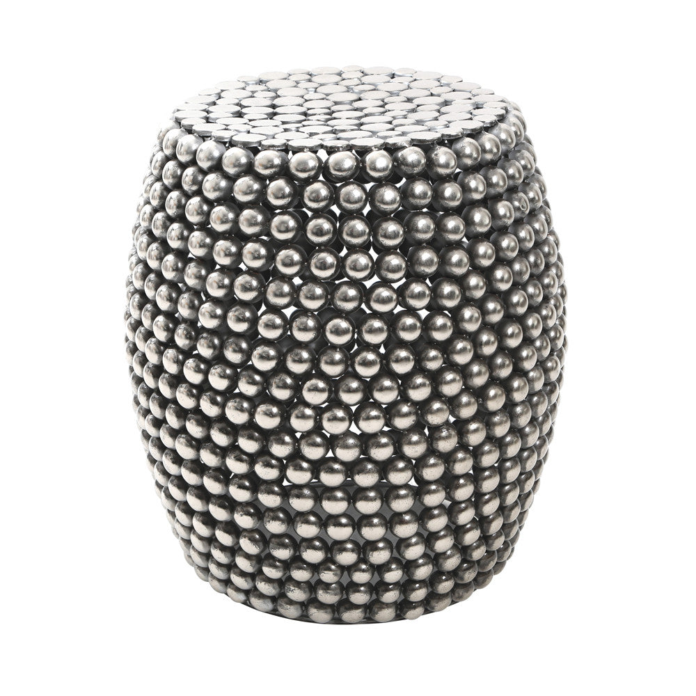 Beaded Metal Stool