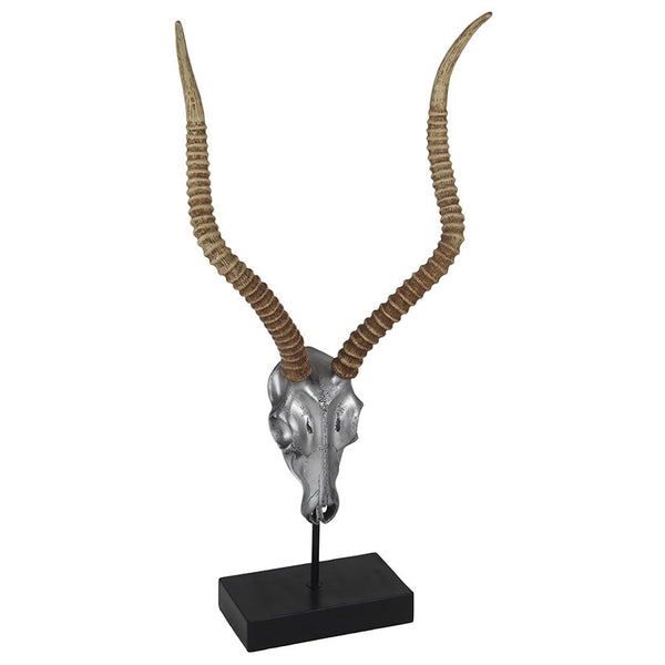 Skull and Antlers Sculpture