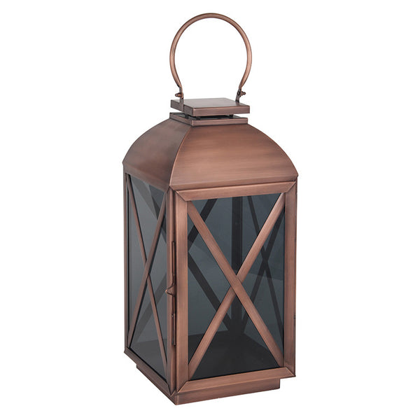Copper and Smoked Glass Lantern (s)