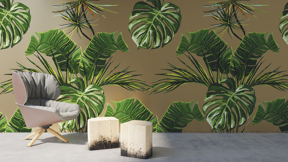 Tropical palm Mural