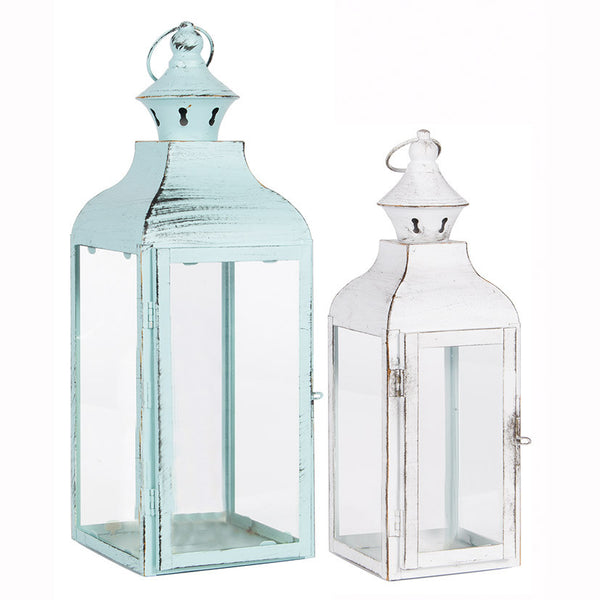 Distressed Painted Lanterns