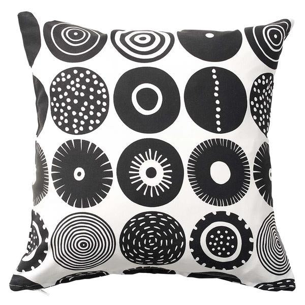 Candy Black 45x45cm Cotton Cushion Cover