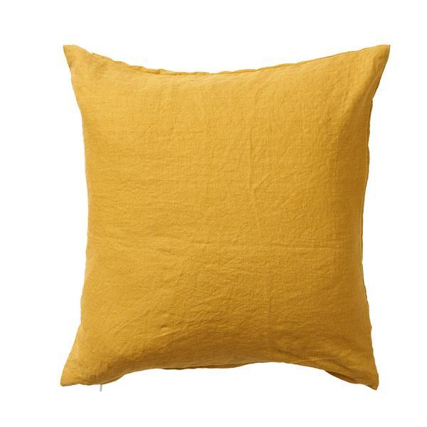 Linn Mustard 50x50cm Linen Cushion Cover