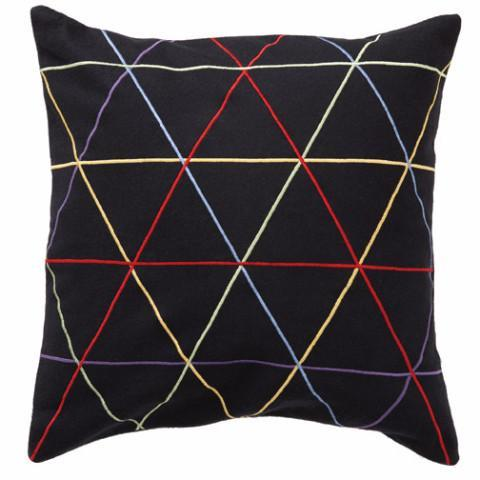 Trio Black/Multi 45x45cm Merino Wool Cushion Cover