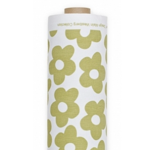 Blomma Light Green Oilcloth Remnant 144x70cm