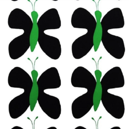 Fjaril (Butterfly) Black/Green