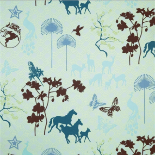 Happy Horse Bluetone Oilcloth