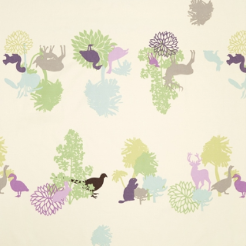 Manimals Green Oilcloth Remnant