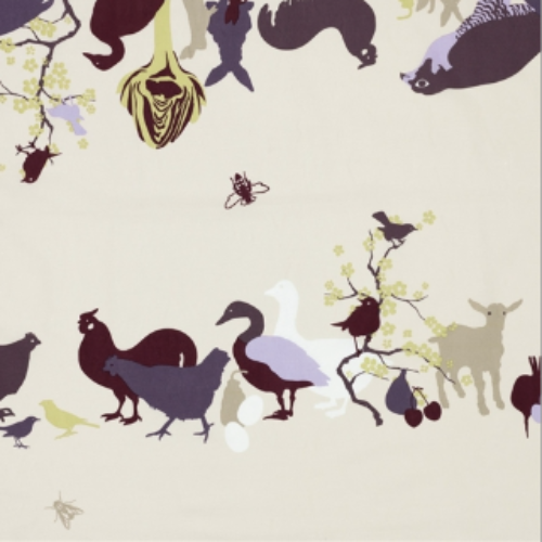 The Farm Oilcloth Remnant 140x135cm