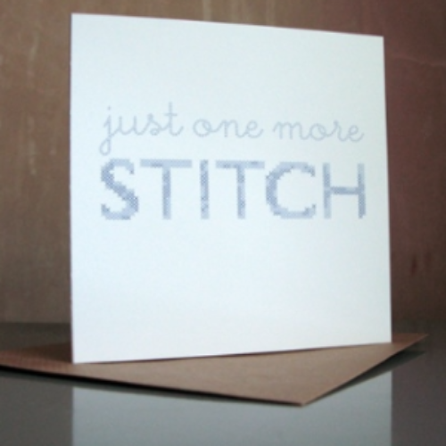 TillyFlopdesigns Just One More Stitch card