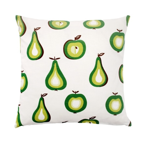 Green Fruit 45x45cm Linen/Cotton Cushion Cover