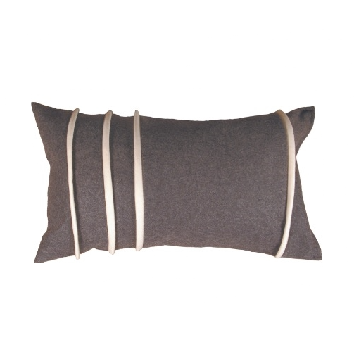 Sofia Dark Grey 35x60cm Merino Wool Cushion Cover