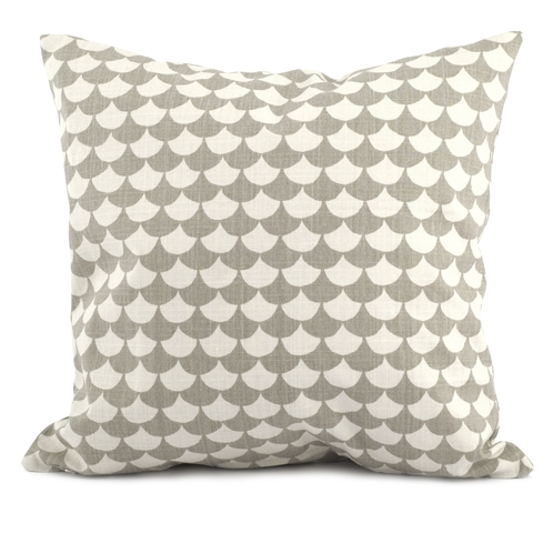 Waves Grey 50x50cm Cotton Cushion Cover