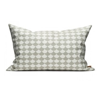 Waves Grey 40x60cm Cotton Cushion Cover