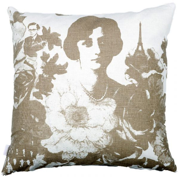 Mademoiselle Natural 48x48cm Linen/Cotton Cushion Cover