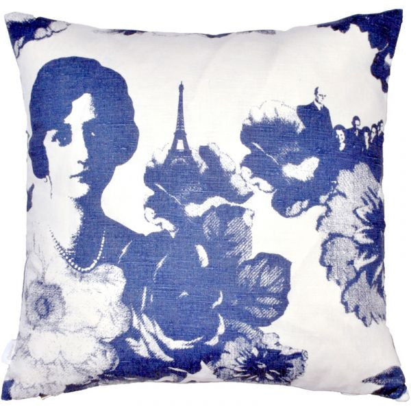 Mademoiselle Blue Cushion Cover