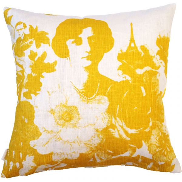 Mademoiselle Yellow 48x48cm Linen/Cotton Cushion Cover