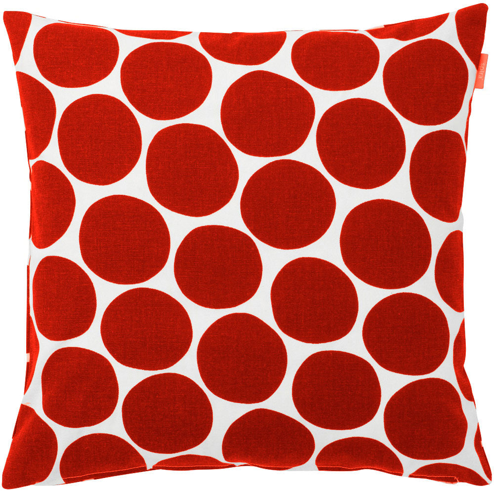 Pompom Red Cushion Cover