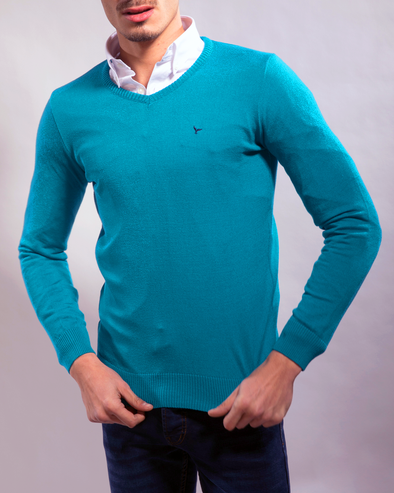 Plain Long-Sleeve Pullover